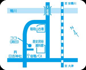 高島・鴨教室地図
